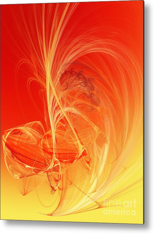Andee Design Abstract Metal Print featuring the digital art Citrus Infusion by Andee Design