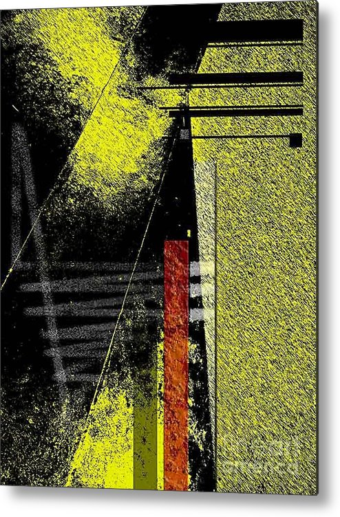 Abstract Metal Print featuring the photograph City Under The Pressures by Fei A