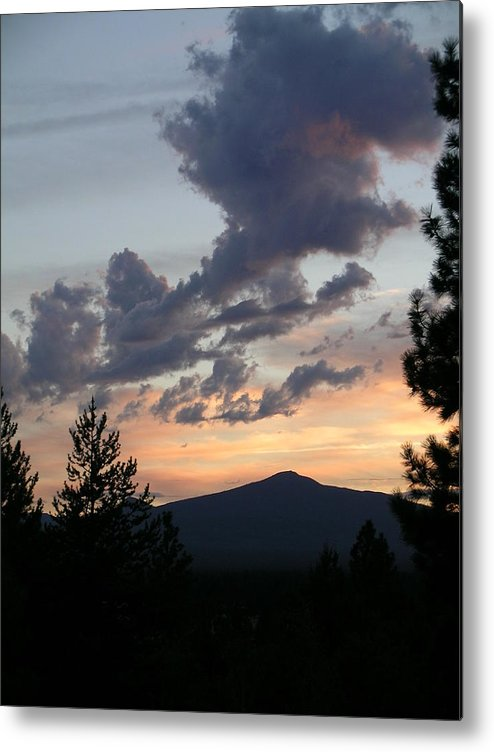 Clouds Metal Print featuring the painting Cloud Show by Jennifer Lake