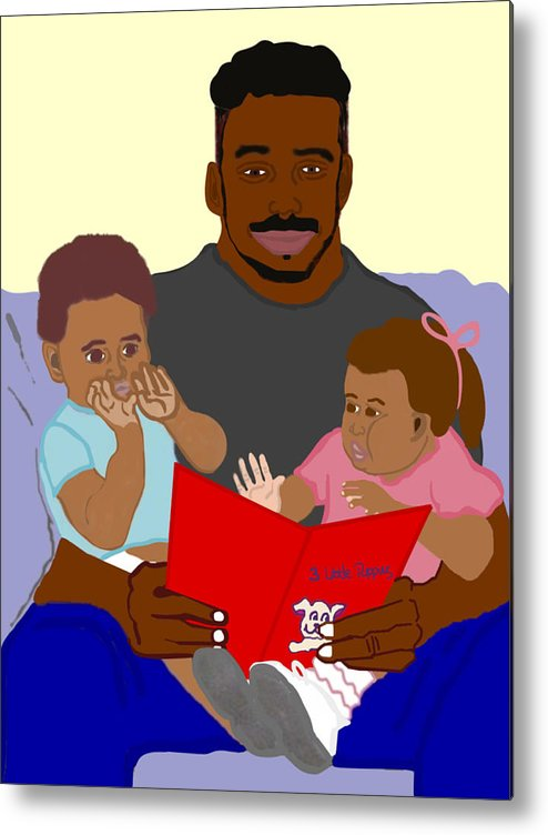 Dad Metal Print featuring the painting Daddy's Bundles by Pharris Art