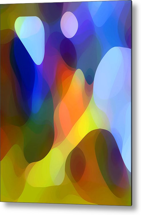 Abstract Art Metal Print featuring the painting Dappled Light by Amy Vangsgard