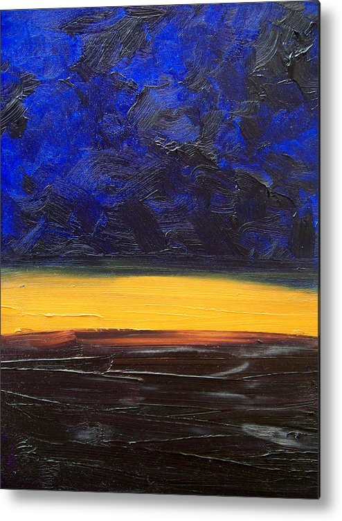 Landscape Metal Print featuring the painting Desert Plains by Sergey Bezhinets