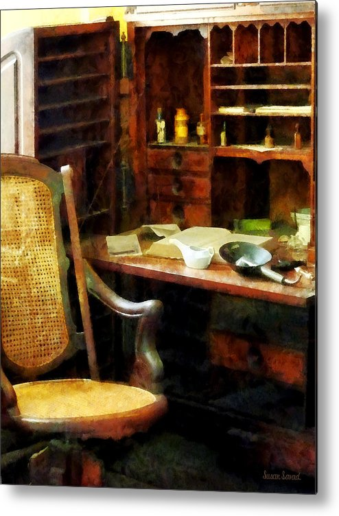 Druggist Metal Print featuring the photograph Doctor - Doctor's Office by Susan Savad