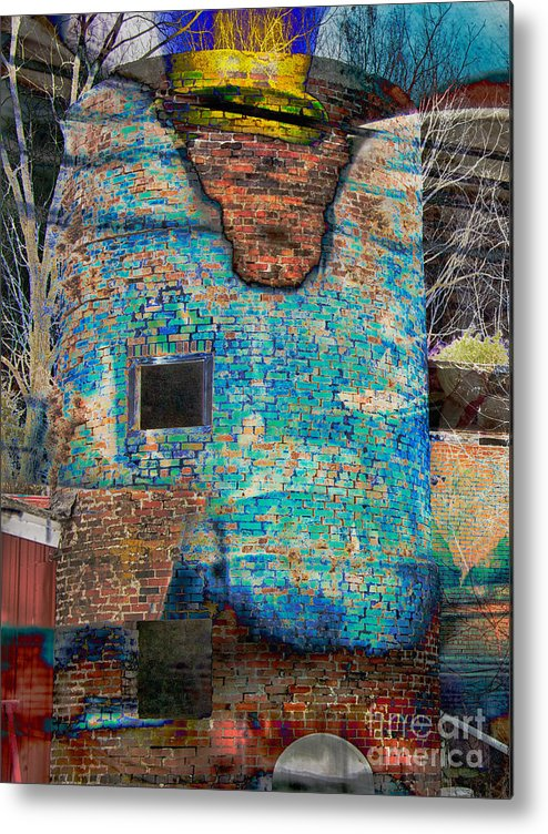 Composite Metal Print featuring the photograph Dyed And Bleached Left by Jay Ressler