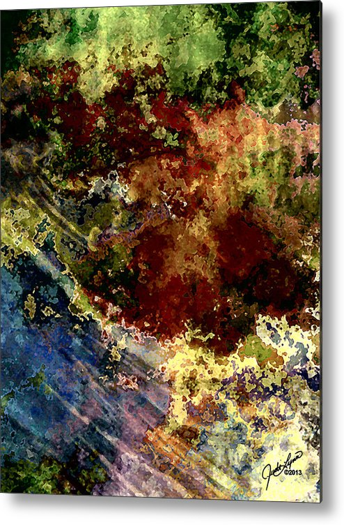 Blue Metal Print featuring the digital art End Of Summer by The Art Of JudiLynn