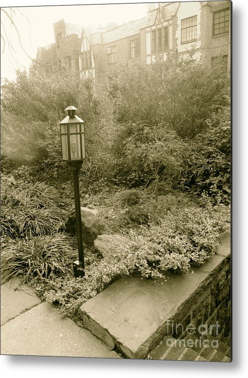 Sepia Metal Print featuring the photograph Faded Garden by Maritza Melendez