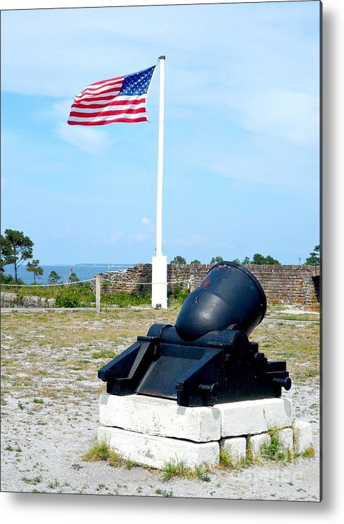 Fort Metal Print featuring the photograph Fort Pickens Flag by JoNeL Art