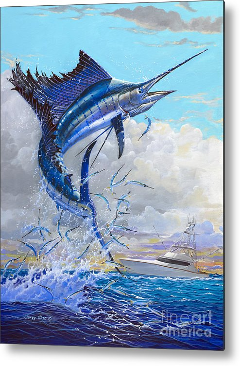 Sailfish Metal Print featuring the painting Free Jumper Off00152 by Carey Chen