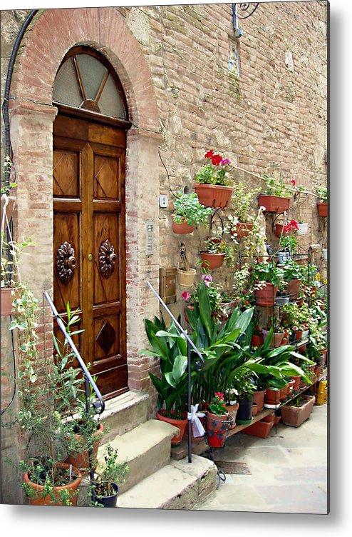 Front Door Metal Print featuring the photograph Front Door by Ellen Henneke