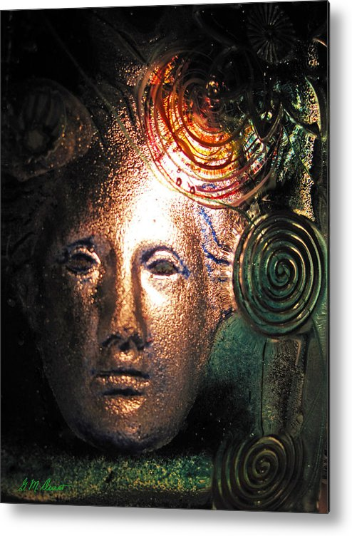 Art Glass Metal Print featuring the digital art Frozen In Time by Michael Durst