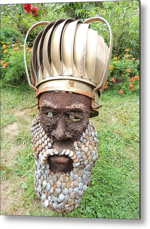 Garden Metal Print featuring the photograph Garden Mask by Anastasia Konn