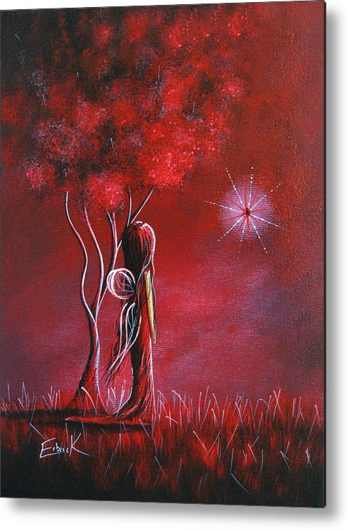 Fairy Metal Print featuring the painting Garnet Fairy By Shawna Erback by Shawna Erback
