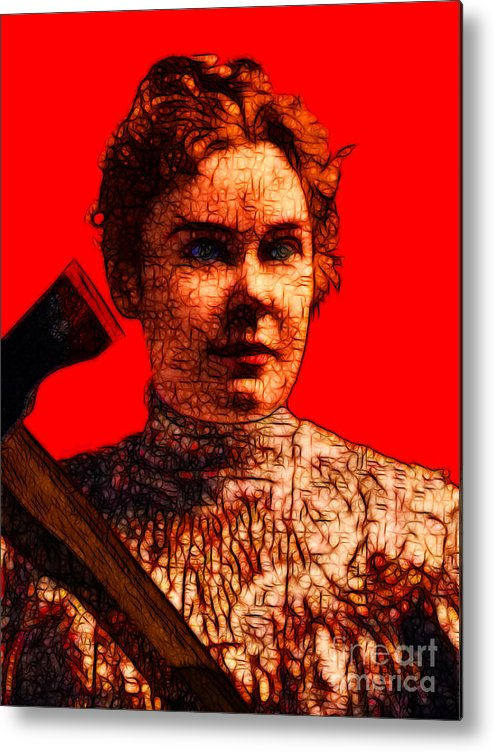 Lizzie Bordon Metal Print featuring the photograph Gave Her Father Forty Whacks - Red by Wingsdomain Art and Photography