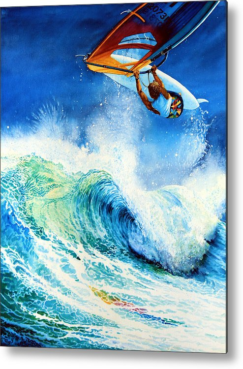 Sports Art Metal Print featuring the painting Getting Air by Hanne Lore Koehler