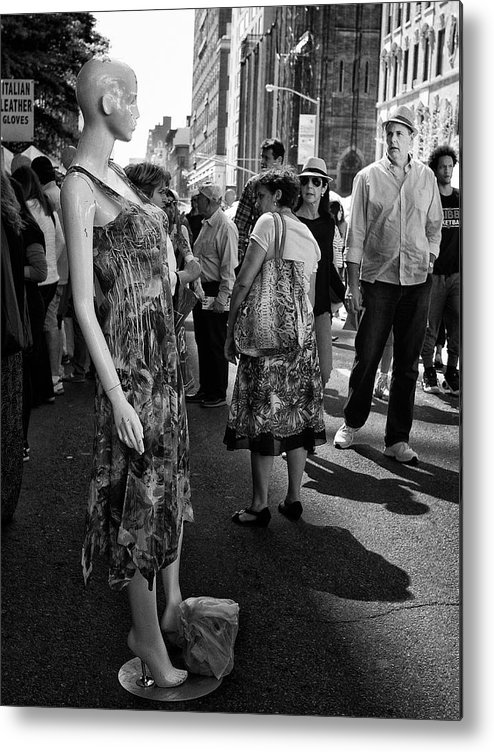 Mannequins Metal Print featuring the photograph Getting Attention by Cornelis Verwaal