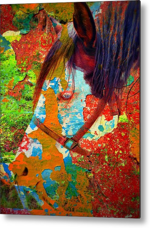 Ghost Horse Metal Print featuring the photograph Ghost Horse by Skip Hunt