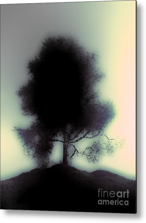 Tree Metal Print featuring the digital art Ghostly Tree by Fairy Fantasies