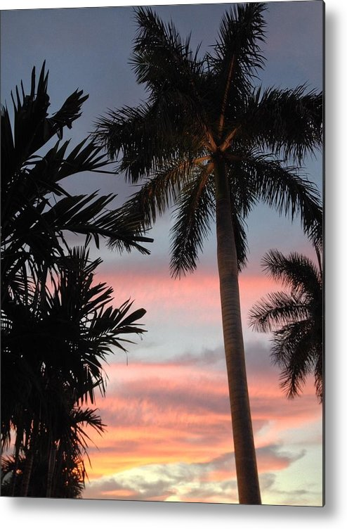 Pastel Sky Metal Print featuring the photograph Goodnight Waterside by K Simmons Luna