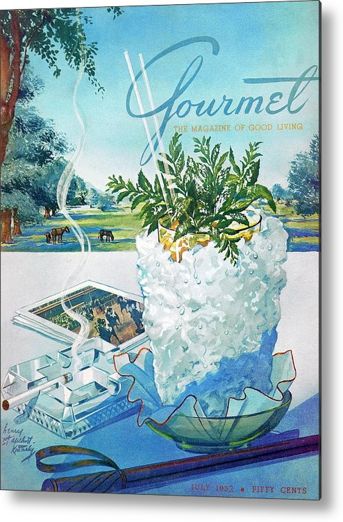 Food Metal Print featuring the photograph Gourmet Cover Illustration Of Mint Julep Packed by Henry Stahlhut