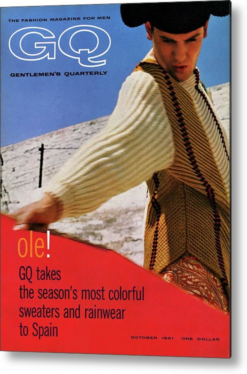 Fashion Metal Print featuring the photograph Gq Cover Of Spanish Matador by Chadwick Hall