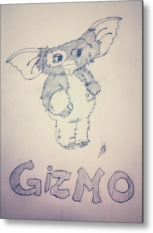 Gizmo Metal Print featuring the drawing Gremlins by Stacey Mills
