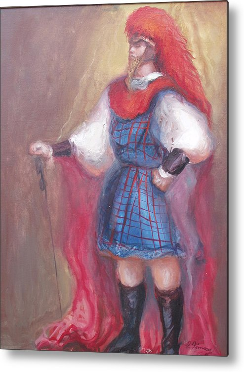 Guard Metal Print featuring the painting Guard Stance by Patricia Kimsey Bollinger