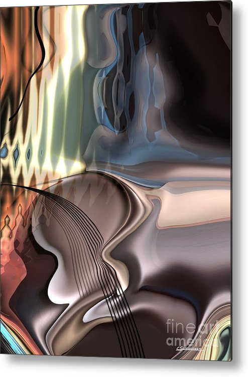 Music Metal Print featuring the painting Guitar Sound by Christian Simonian