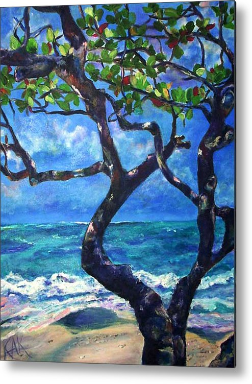 Tree Metal Print featuring the painting Hawaii by Art by Kar