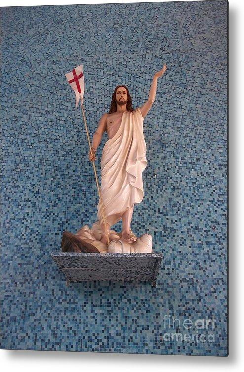 Jesus Christ Metal Print featuring the photograph He Raise by Vladimir Berrio Lemm