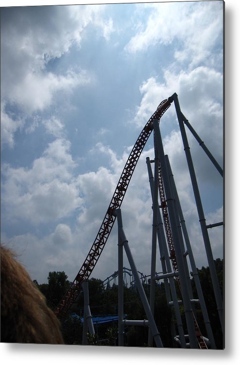 Hershey Metal Print featuring the photograph Hershey Park - Storm Runner Roller Coaster - 12122 by DC Photographer
