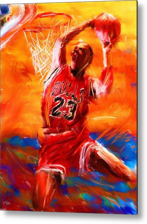 Basketball Metal Print featuring the digital art His Airness by Lourry Legarde