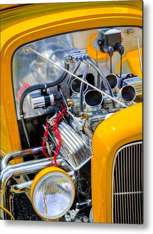 Car Metal Print featuring the photograph Hot Rod by Bill Wakeley