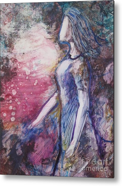 Spiritual Metal Print featuring the sculpture I Am Yours by Deborah Nell