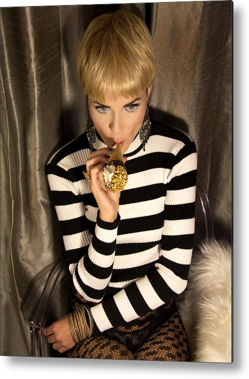 Edie Sedgwick Metal Print featuring the photograph Ice Cream Dream Girl by William Dey