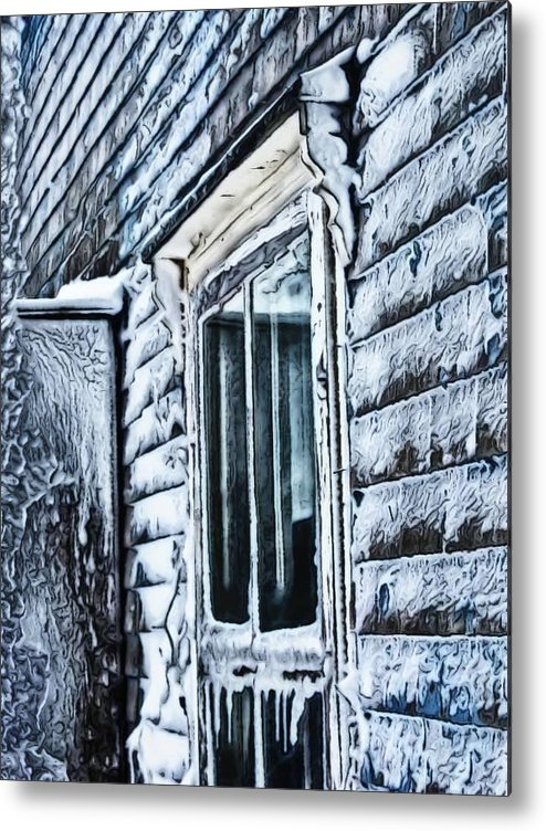 Metal Print featuring the photograph Ice by Kilmeny Boates