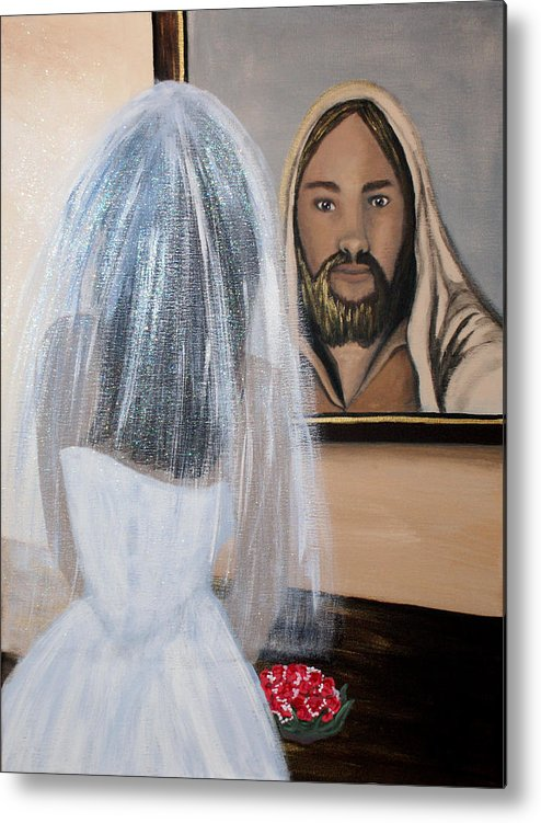 Bride Metal Print featuring the painting In His Image by Pamorama Jones