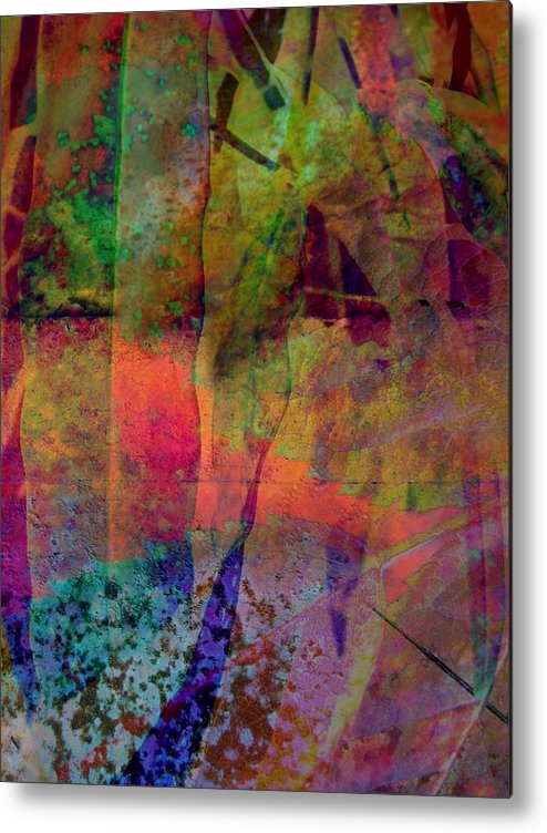 Abstract Metal Print featuring the photograph Inside Autumn by Shirley Sirois