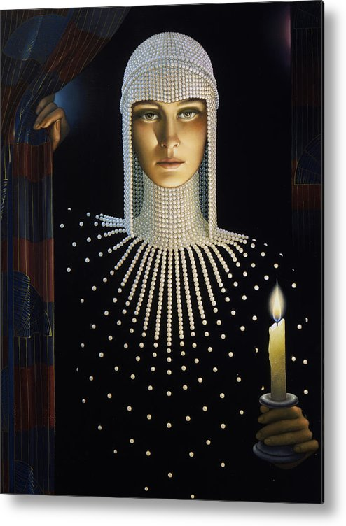 Intrique Metal Print featuring the painting Intrique by Jane Whiting Chrzanoska