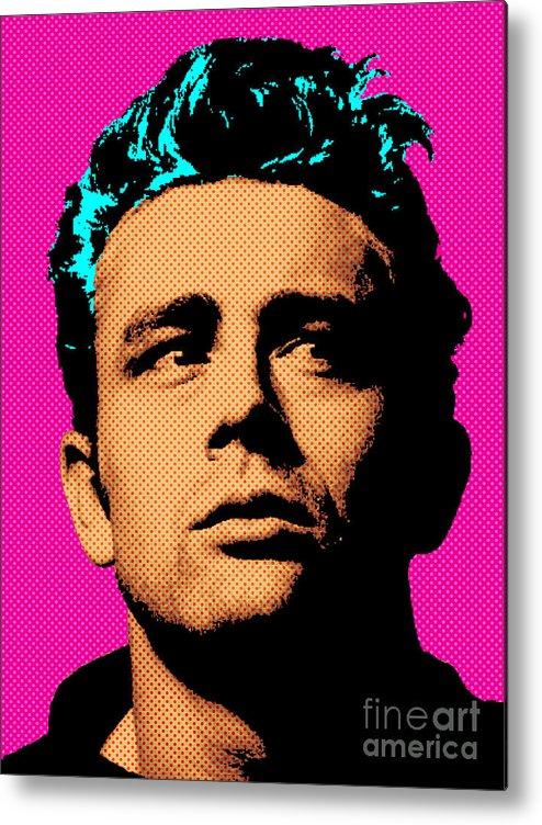 James Dean Metal Print featuring the digital art James Dean 001 by Bobbi Freelance