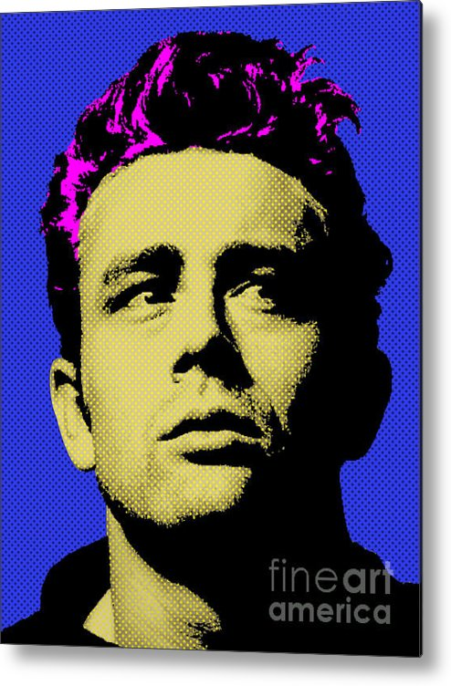 James Dean Metal Print featuring the digital art James Dean 002 by Bobbi Freelance