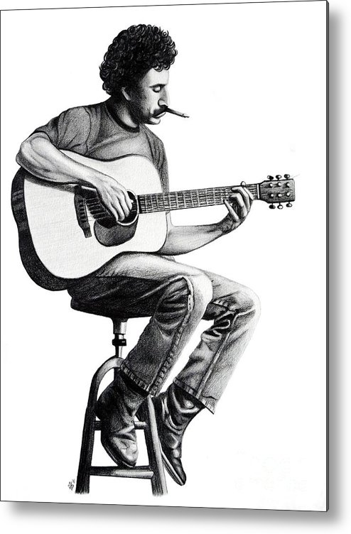Drawing Metal Print featuring the drawing Jim Croce by Danielle R T Haney