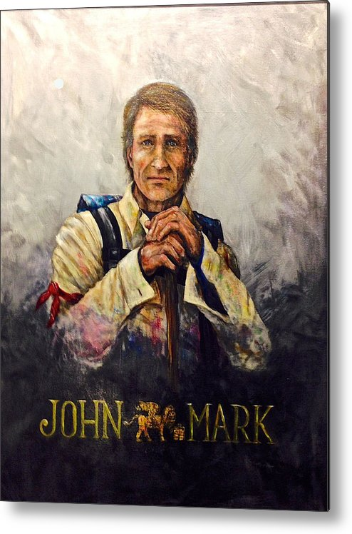St. Mark Metal Print featuring the painting John Mark by Larry Peterson