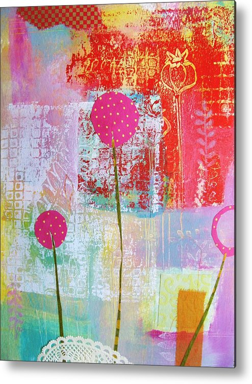 Flower Metal Print featuring the mixed media Just Pinky by Chris Cozen