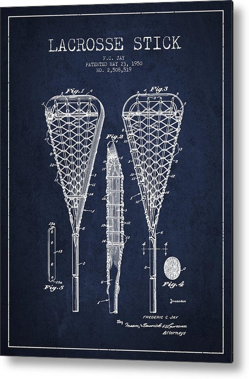 Lacrosse Racquet 1950 Art Print Ready To Be Framed! Patent Print