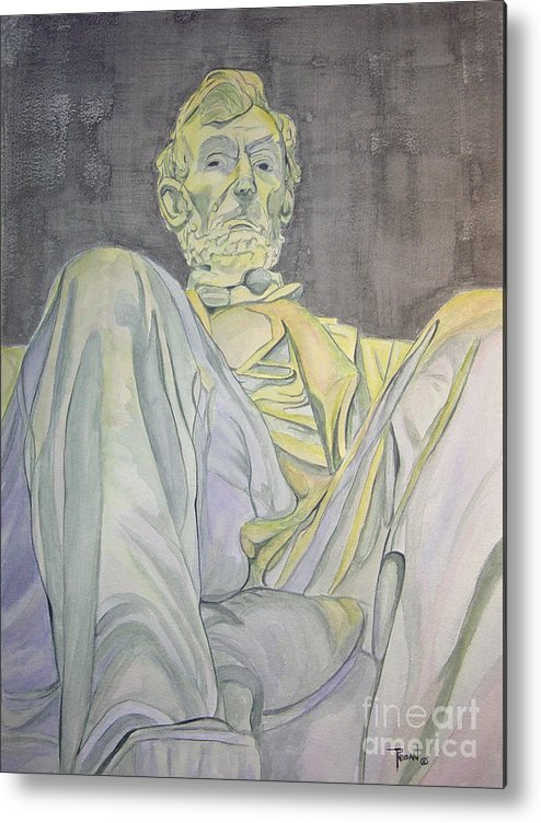 Presidents Metal Print featuring the painting Lincoln by Regan J Smith