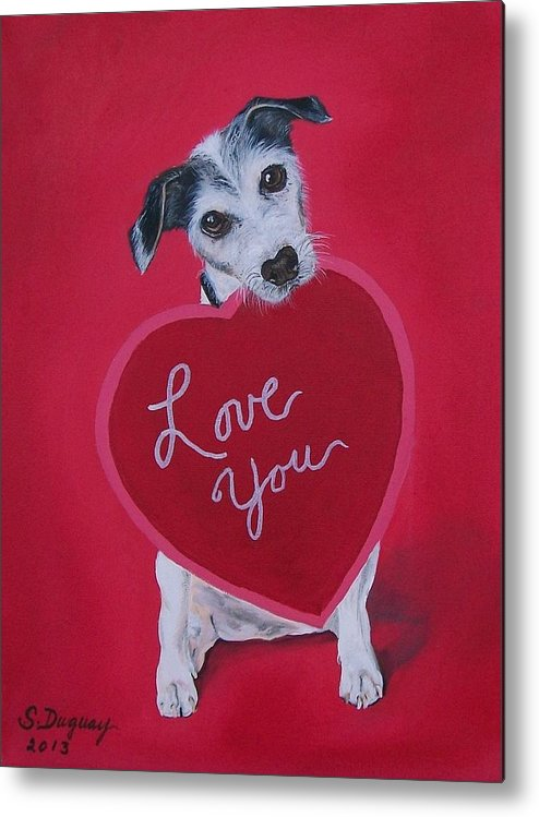 Valentine Metal Print featuring the painting Love You by Sharon Duguay