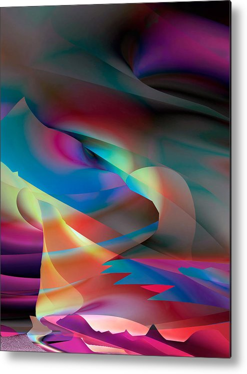 Colorful Landscapes Metal Print featuring the digital art Many Moons Ago by Dolores Kaufman
