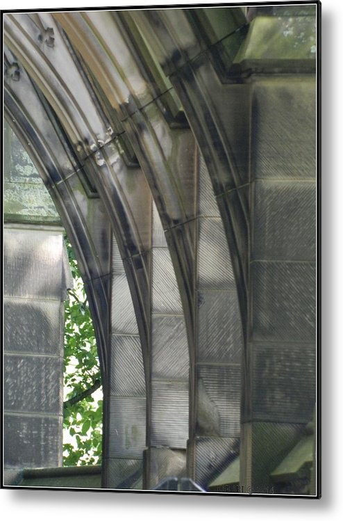 Arches Metal Print featuring the photograph Mausoleum Arches by Kathy Barney