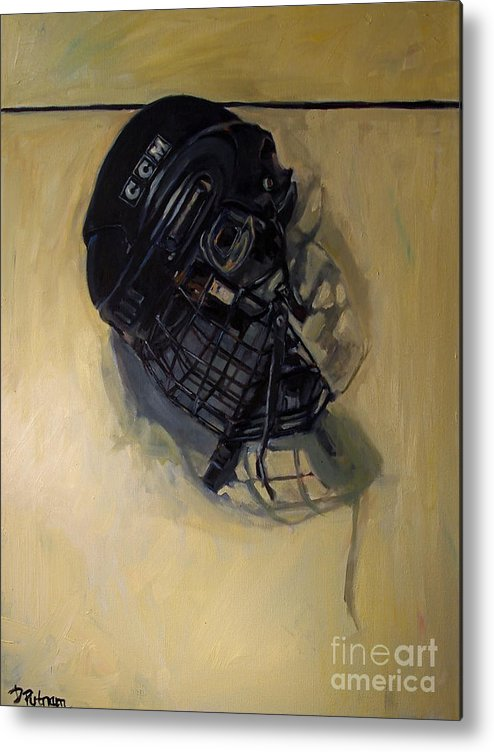 Hockey Metal Print featuring the painting Maybe Next Year by Deb Putnam