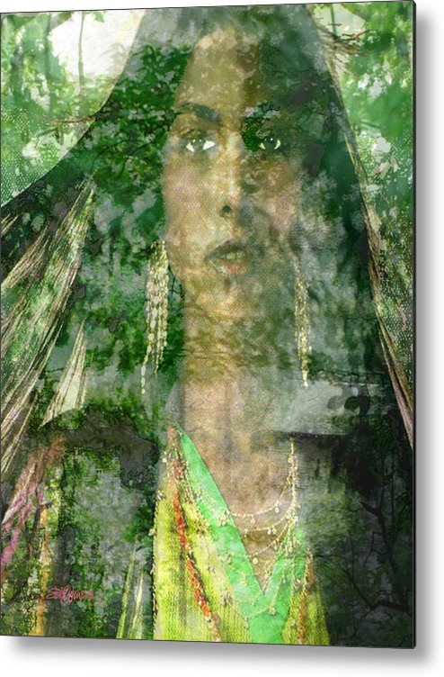 American Indian Metal Print featuring the digital art Mistress Of The Wind by Seth Weaver